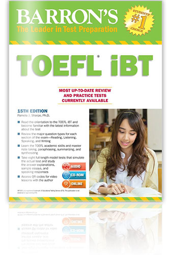 托福參考書推薦 - Barron's TOEFL iBT: Internet-based Test