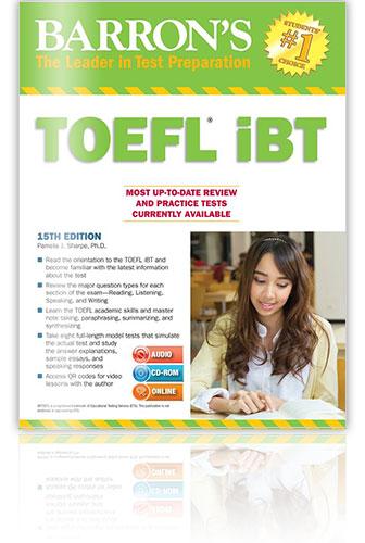 托福參考書推薦 - Barron's TOEFL iBT: Internet-based Test
